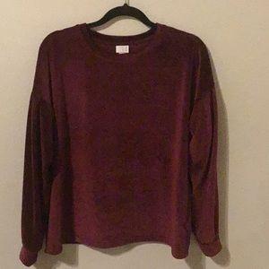 A new day velvet sweatshirt.